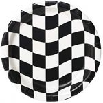Racing black and white check